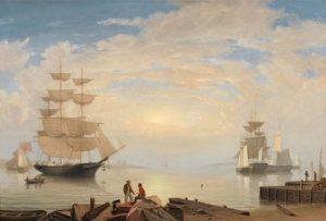Fitz Henry Lane, Gloucester Harbor at Sunrise, c. 1850.