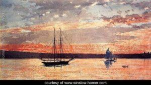 Winslow Homer's Sunset at Goucester