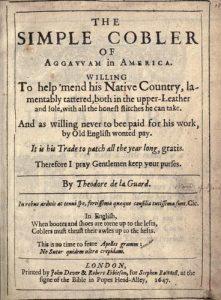 The Simple Cobler of Aggawam in America
