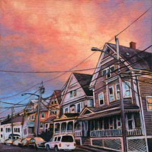Andrew Houle_Row of pink houses