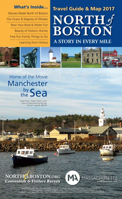 Travel Guide and Map 2017 with a picture of Manchester by the Sea on the front.