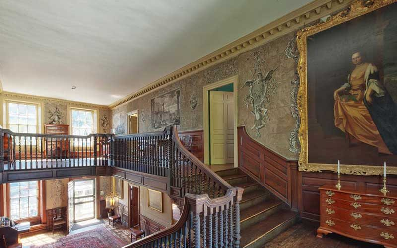 Second floor of the Jeremiah Lee mansion in Marblehead.