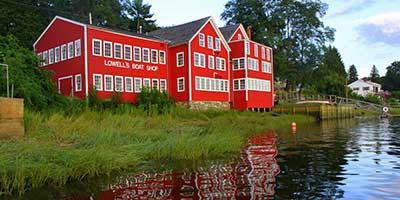 Big Red building on the Merrimack River.