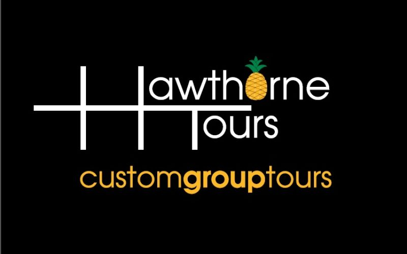 Hawthorne Tours logo with an illustrated pineapple.