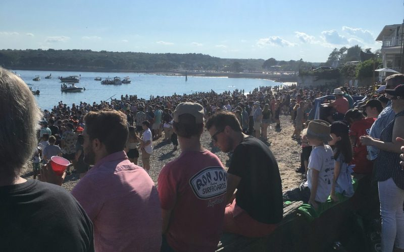 Saint Peter's Fiesta's Greasy Pole Contest