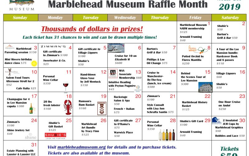 March is Raffle Month!