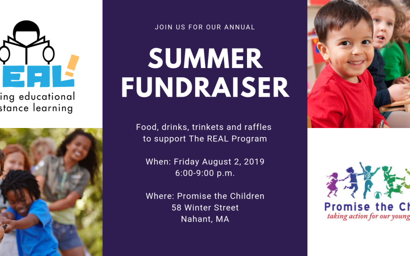 Summer Fundraiser for The REAL Program hosted by Promise the Children
