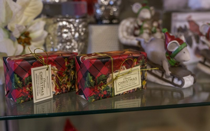Try some wassail at The Gables' Museum Shop while holiday shopping