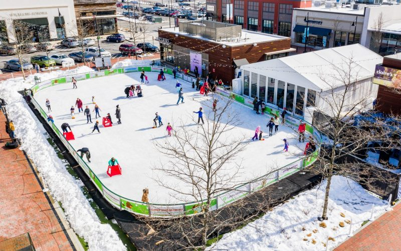 The MarketStreet Lynnfield​ Ice Skating Rink is now open through February!