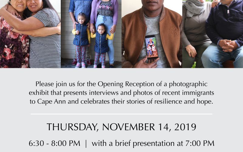 "Opening Reception for ""Portraits of Cape Ann Immigrants"" Photographic Exhibit"