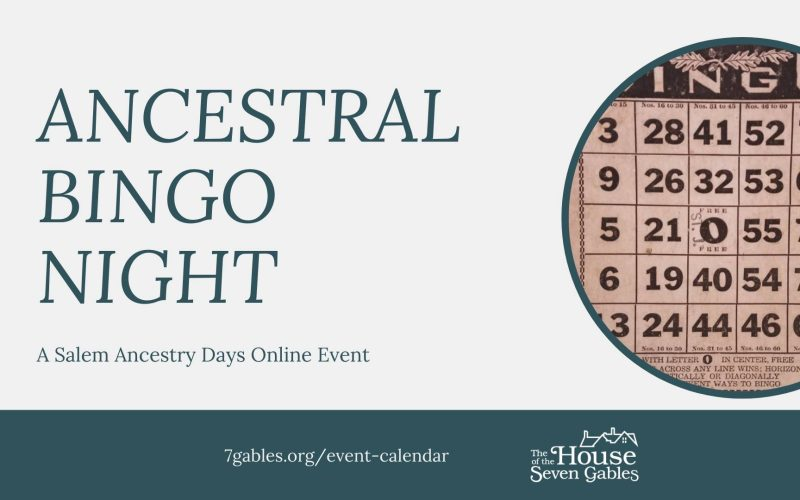 Play Ancestral BINGO with The Gables Friday, April 30